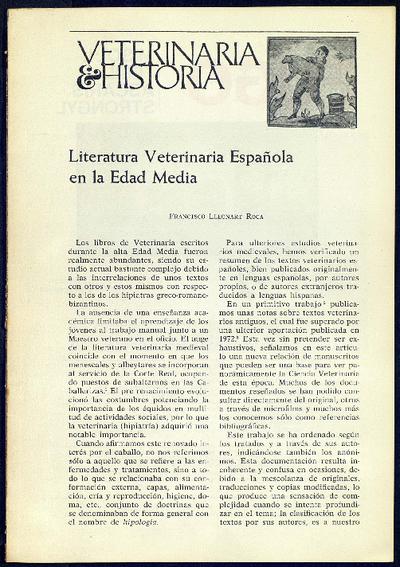 Literatura Veterinaria Española en la Edad Media