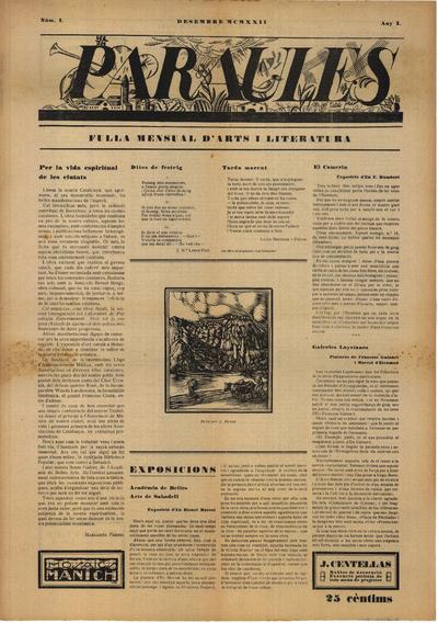 Paraules : Revista mensual d'arts i literatura