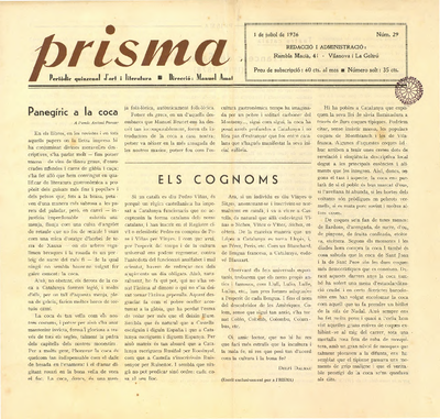 Prisma : revista mensual il·lustrada d'art i literatura