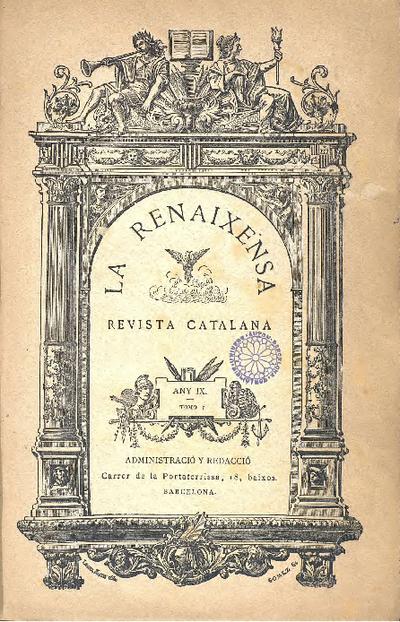 La Renaxensa : periódich de literatura, ciencias y arts