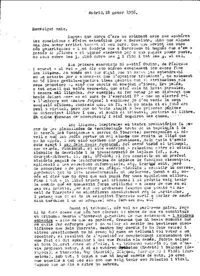 Carta de Ramón Ortiz Fornaguera a Josep Teixidor