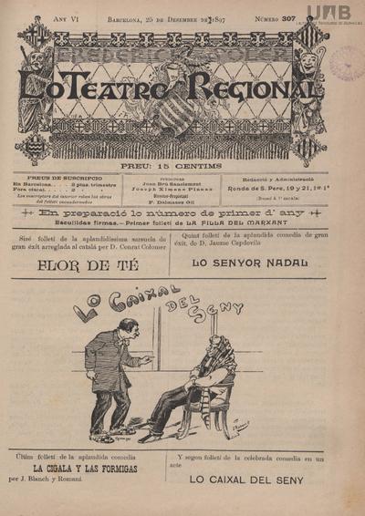 Lo Teatro regional : Setmanari de literatura, novas y anuncis
