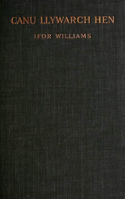 Canu Llywarch Hen