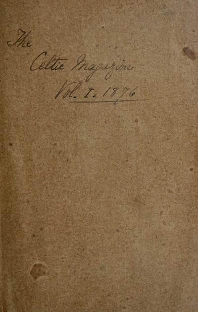 Blair Collection; Celtic magazine; Volume 1
