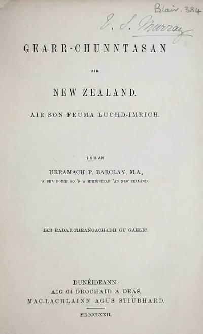 Gearr-chunntasan air New Zealand