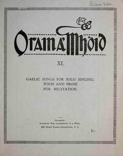 Blair Collection; Orain a' Mhoid; Book 11