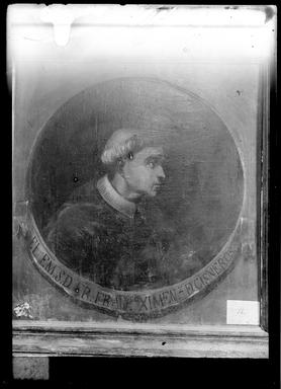 Pintura de la Colección Borbón Lorenzana : Retrato del arzobispo Francisco Jiménez de Cisneros.