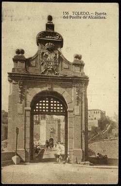 Toledo : Puerta del Puente de Alcántara.-.