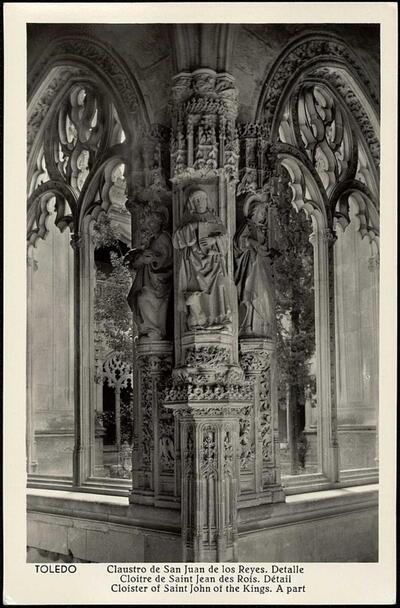 Toledo : Claustro de San Juan de los Reyes. Detalle.-.