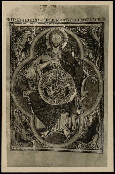 Catedral de Toledo : Sacristía. Miniatura de la Biblia de S. Luis, 1250.-.