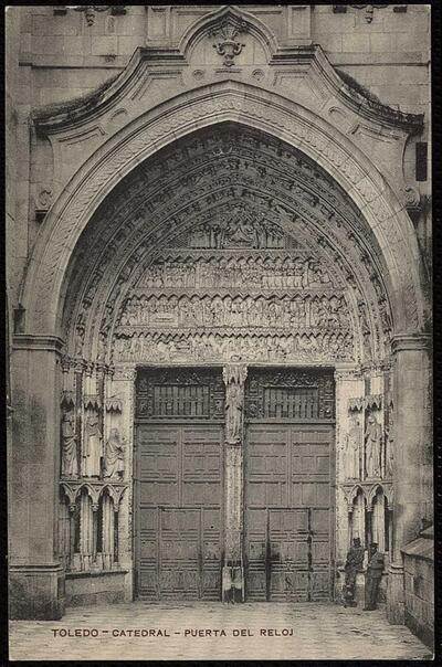 Toledo : Catedral - Puerta del Reloj.-.