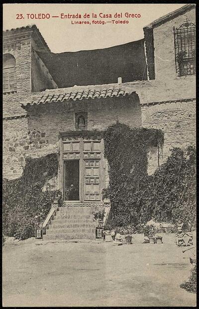 Toledo : Entrada de la Casa del Greco / Linares, fotóg.-.