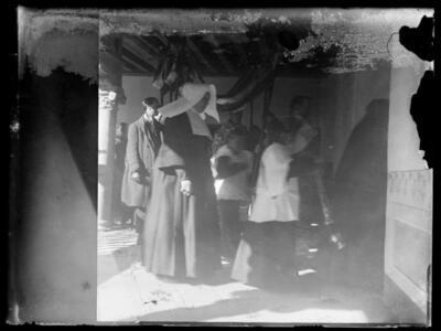 Procesión en el asilo de San Pedro Mártir.