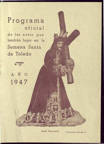 [Programa oficial de los actos que tendrán lugar en la Semana Santa de Toledo].-.