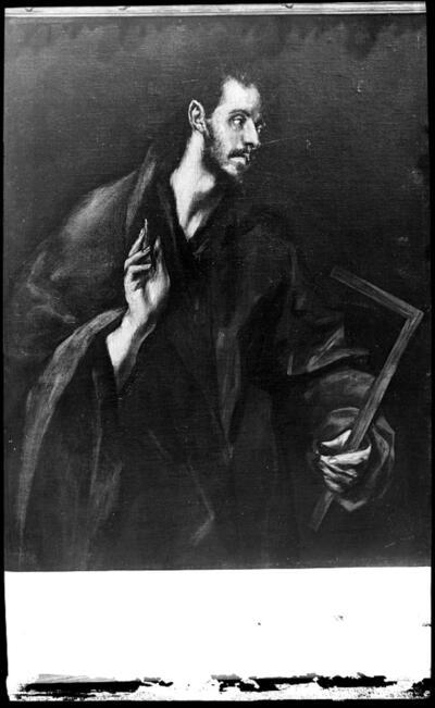 Santo Tomás de El Greco en la Sacristía de la Catedral.