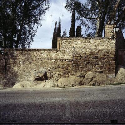 Tramo de la muralla de la ciudad.-.