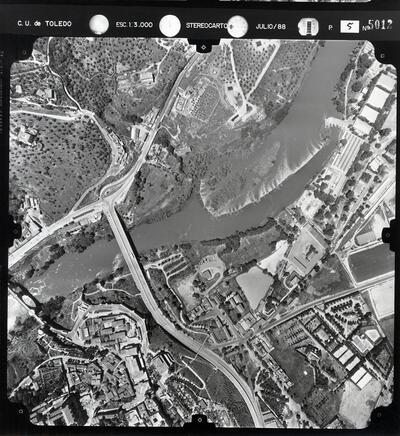 Vista aérea de la ciudad de Toledo (Pasada 5 - núm. 5012).