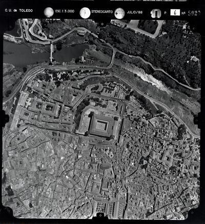 Vista aérea de la ciudad de Toledo (Pasada 6 - núm. 5020).