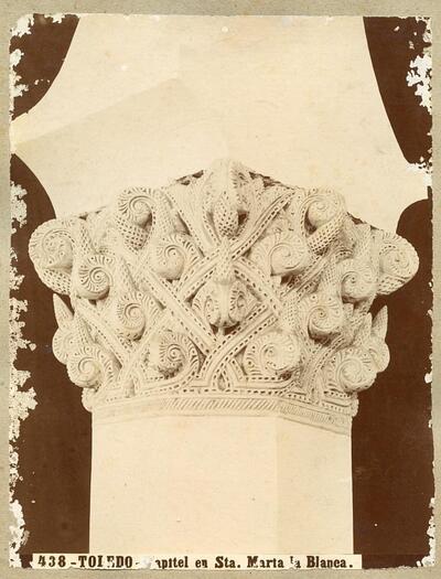 Toledo - Capitel en Santa María la Blanca.