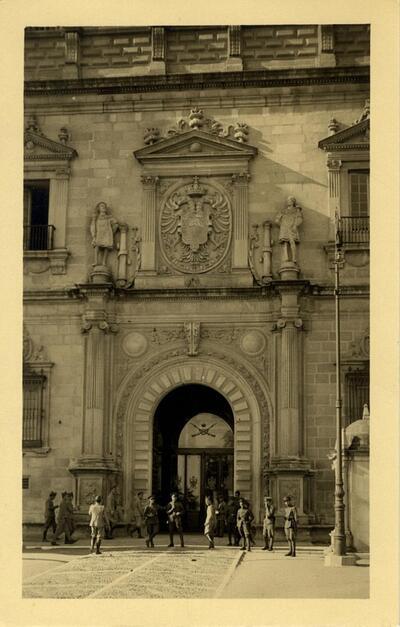 Toledo - Alcázar. Portada principal.-.