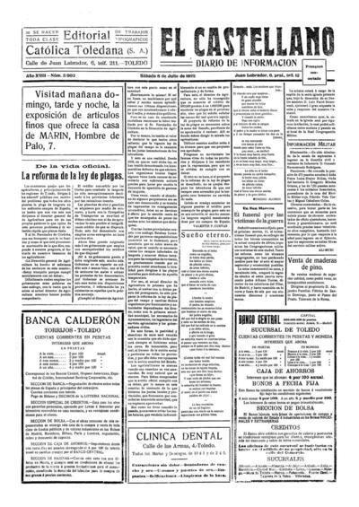 El Castellano. 8/7/1922, n.º 3.902.