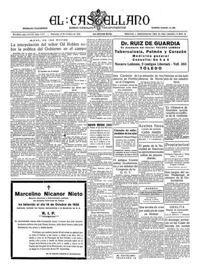El Castellano. 19/10/1932, n.º 7.317.