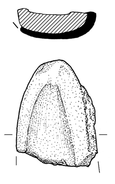 Clay mould of knife from Dun Aonghasa, find no. 1465.