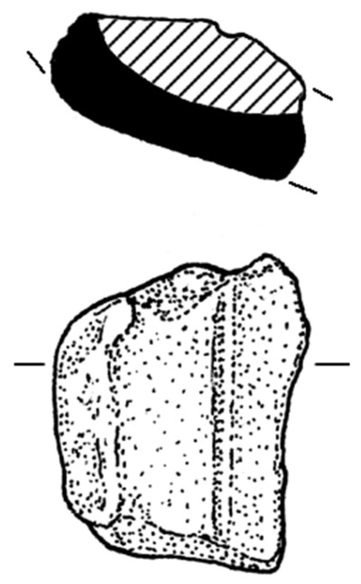 Clay mould of spearhead type 2 from Dun Aonghasa, find no. 1290.