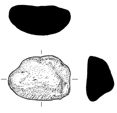 Clay gate mould from Dun Aonghasa, find no. 1409.