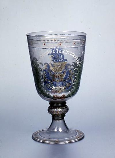 Pokal mit Inschrift La Domine In Crementum 1645