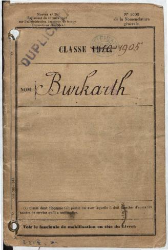 FRBNBU-031 Vincent Burkarth et sa guerre