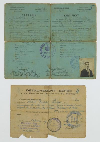 FRBNBU-033 Georges Ristitch ouvrier serbe dans une poudrerie française