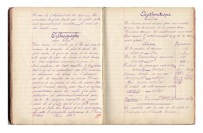 FRAD087_063-Cahier de devoirs du jour de Suzanne Legrand