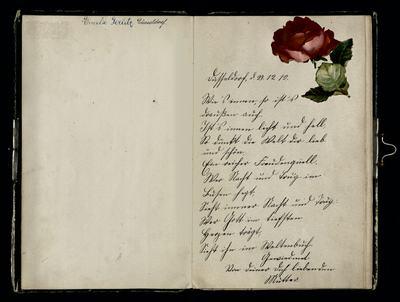 Poesiealbum von Emilie Gerlitz