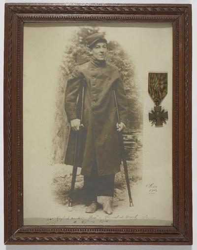 FRBNBU-153 Marcel Amédée Pellet a connu sa femme grâce à une blessure de guerre