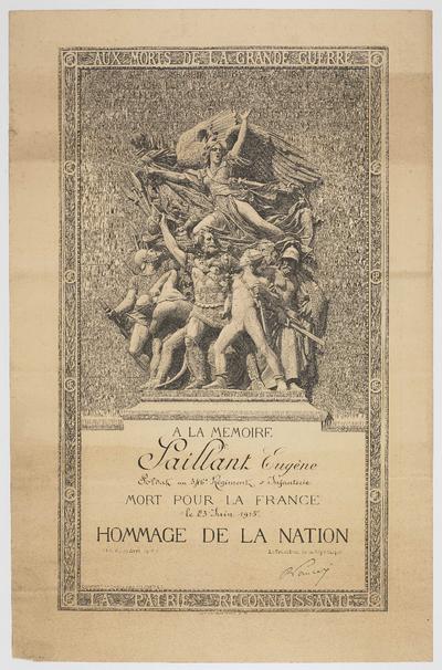 FRBNBU-101 Eugène Saillant, cultivateur Seine-et-Marnais, mort pour la France