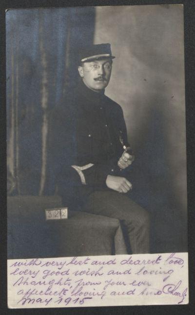 FRBDIC_57 Correspondance et photographies de Charles Bessin, Maréchal des logis puis prisonnier en Allemagne pendant la 1ère Guerre mondiale
