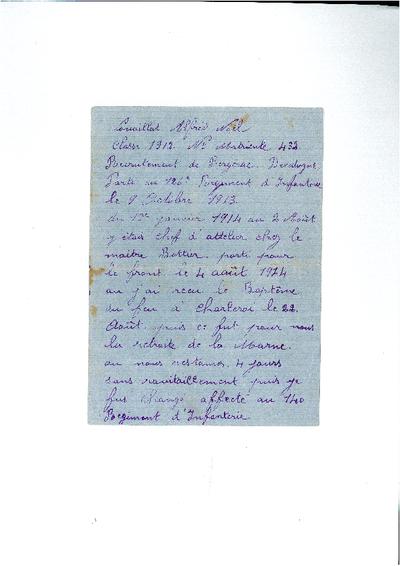 FRAM - Faits de guerre d'Alfred NOUAILLAT