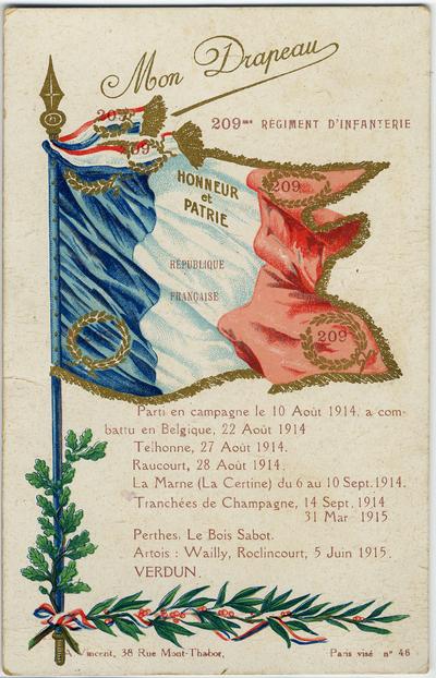 Carte postale adressée par François Camus à sa femme
