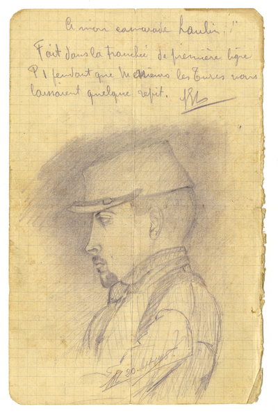 Croquis représentant Marcel Laulin (20/09/1915)