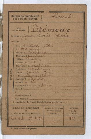 FRBNBU-074 Louis Trémeur un cavalier canonnier