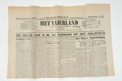 Vaderland 18 november 1918