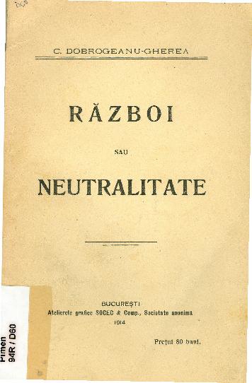 Razboi sau neutralitate