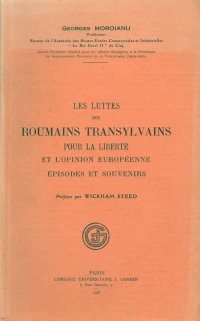 Lupta romanilor transilvaneni pentru libertate