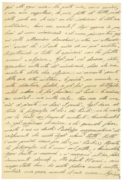 Lettera di un missionario alla moglie di Jarach