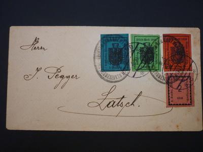 Briefmarken Lokalausgabe Hilfspost Meran 1918 (Südtirol)