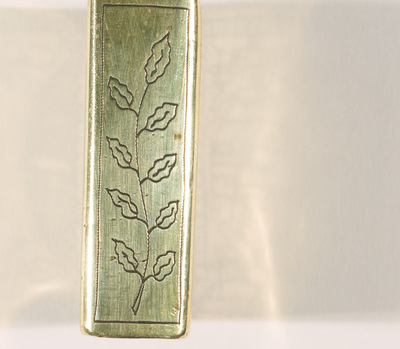 Trench art given to Anthony Lynch