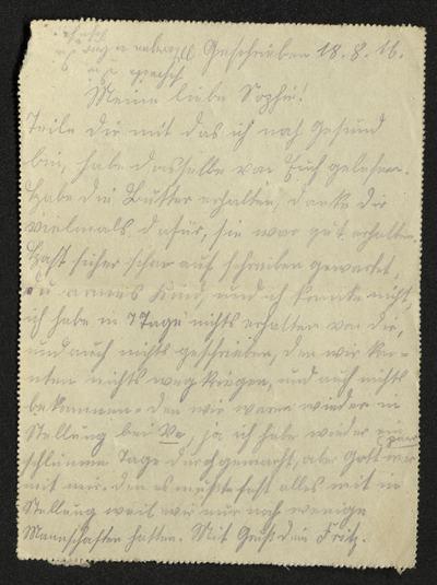 Briefe und Feldpostkarten von Friedrich Stapel aus Ladbergen