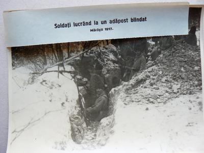 Soldați clădind un adăpost blindat (Mărăști, 1917)