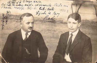 Radivoje Pantović - dopisnica  upućena ženi Dari u Čačak - 15. 7. 1917.